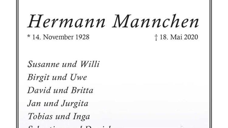 Hermann Mannchen † 18. 5. 2020