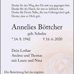 Anneliese Böttcher † 16. 6. 2020