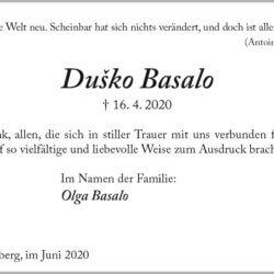 Dusko Basalo -Danksagung-