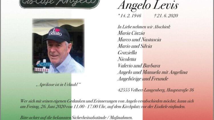 Angelo Levis † 21. 6. 2020
