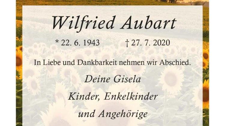 Wilfried Aubart † 27. 7. 2020