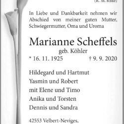 Marianne Scheffels † 9. 9. 2020