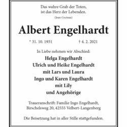 Albert Engelhardt † 4. 2. 2021