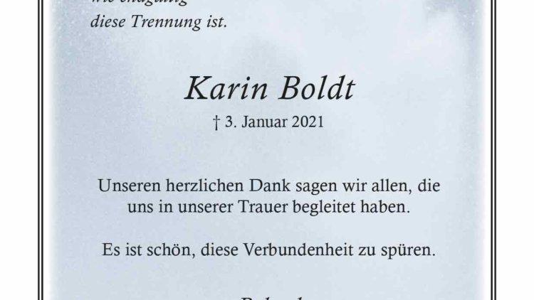 Karin Boldt -Danksagung-