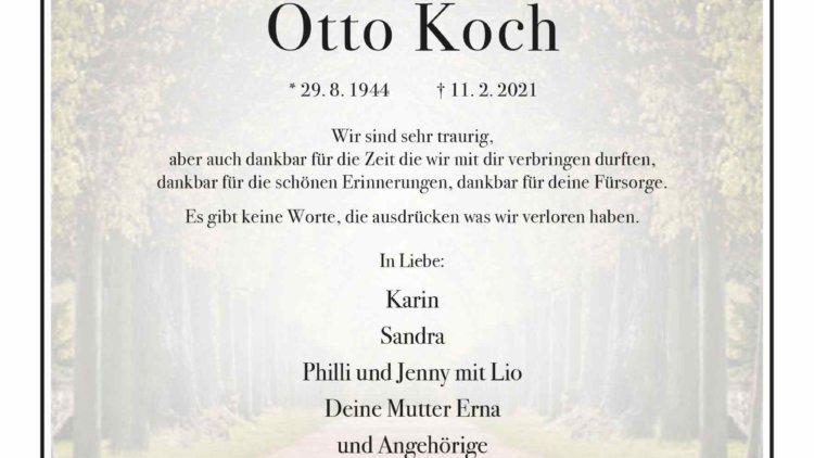Otto Koch † 11. 2. 2021