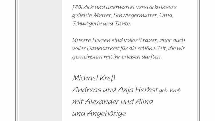 Gisela Kreß † 16. 2. 2021