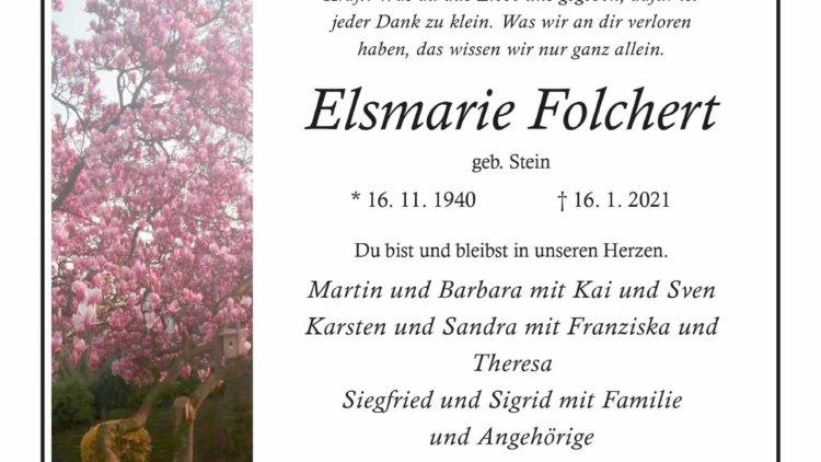 Elsmarie Folchert † 16. 1. 2021