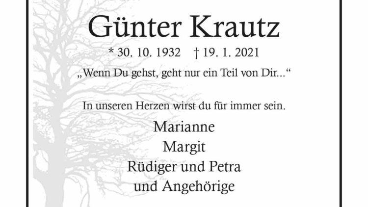 Günter Krautz † 19. 1. 2021