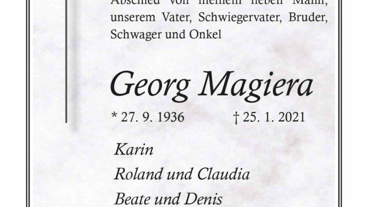 Georg Magiera † 25. 1. 2021