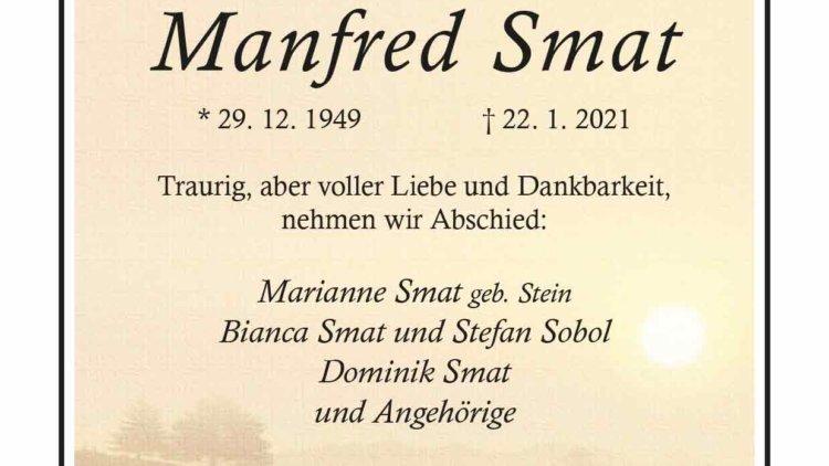Manfred Smat † 22. 1. 2021