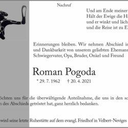 Roman Pogoda † 20. 4. 2021