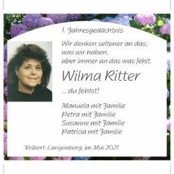 Wilma Ritter -Jahresgedächtnis-
