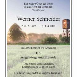 Werner Schneider † 11. 4. 2021