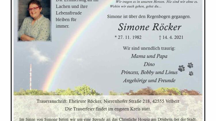 Simone Röcker † 14. 4. 2021