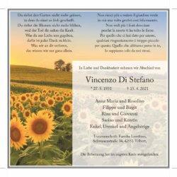 Vincenzo Di Stefano † 15. 4. 2021