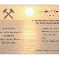 Friedrich Kreis -Danksagung-