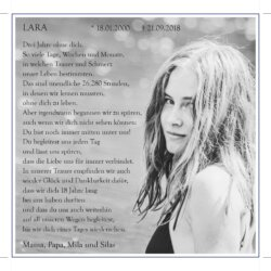 Lara Cira Barthel -Jahresgedächtnis-
