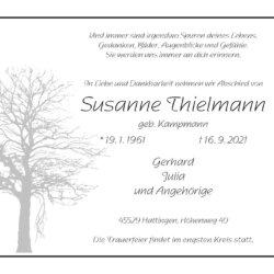 Susanne Thielmann † 16. 9. 2021