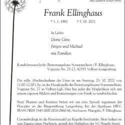 Frank Ellinghaus † 5. 10. 2021