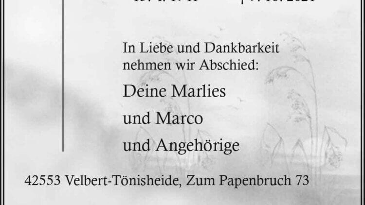 Bernd Platte † 9. 10. 2021